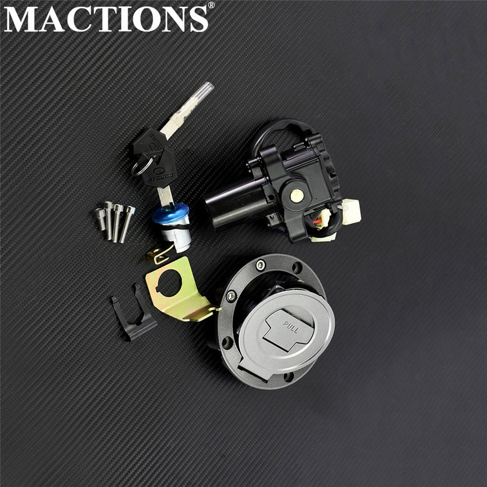 Motorcycle Ignition Switch Lock Fuel Gas Cap Key For Yamaha FJR1300 2001-2009 2010 For Yamaha YZF R6 2004 2006-2010 2011