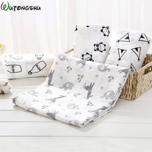 Детские муслиновые пеленки, пленки для новорожденных, мини одеяльце