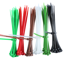 30% OFF! 6 inch Colorful red green Nylon Cable Ties 150mm 100Pcs W=3.6mm Durable Wire Zip Ties Direct Factory Price loop tie