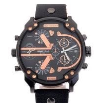 SHIWEIBAO mens relojes de primeras marcas de lujo de cuarzo reloj de vestir de cuero relojes de pulsera
