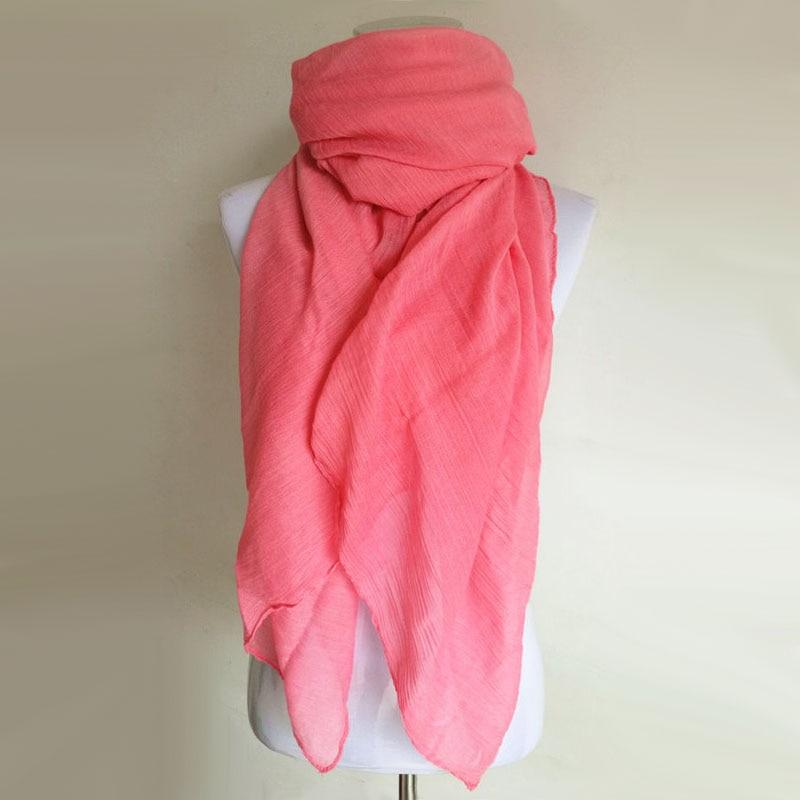 3420a62c5283 Livraison gratuite Moins Cher Hiver Femmes Mode Solide Coton Voile Chaud  Bonbons Mous Écharpe Châle Cape 20 Couleurs Disponibles