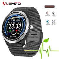 LEMFO 2019 New ECG + PPG Smart Watch Men IP67 Waterproof Sport Watch Heart Rate Monitor Blood Pressure Smartwatch For The Aged
