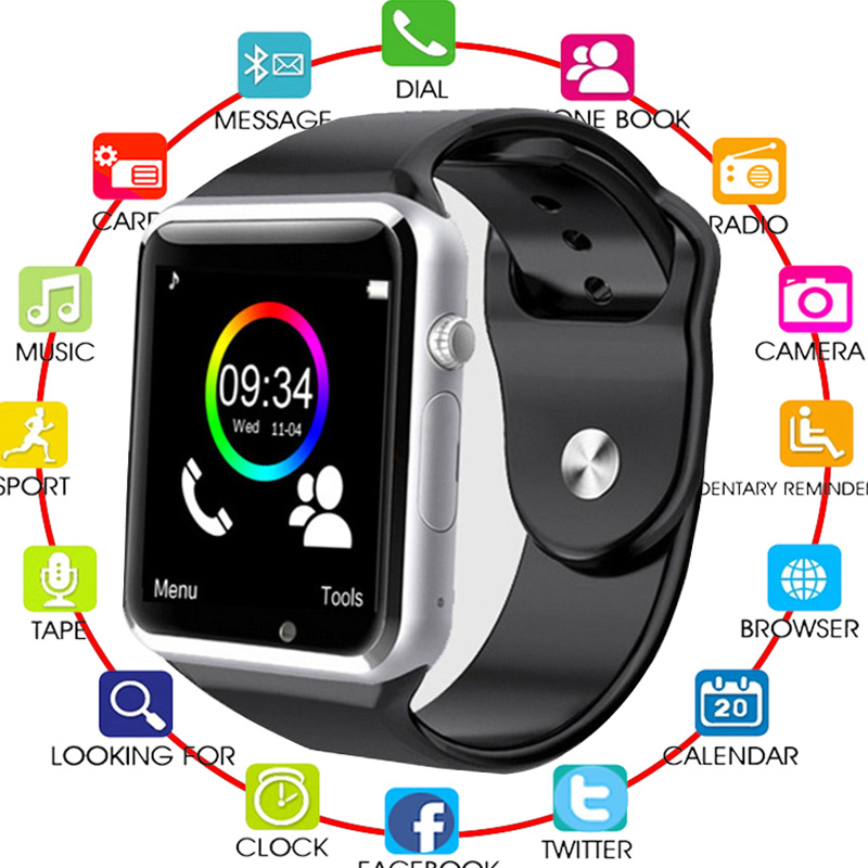 Bluetooth Smart Watch A1 For Apple iPhone IOS Android Phone Wrist Wear Support Sync smart clock Sim Card PK DZ09 GV18Bluetooth Smart Watch A1 For Apple iPhone IOS Android Phone Wrist Wear Support Sync smart clock Sim Card PK DZ09 GV18