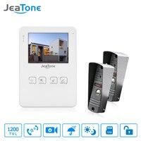 JeaTone 4 Inch Video Doorbell Door Phone Intercom System Monitor Unlocking Electronic Lock Video Recording Photo