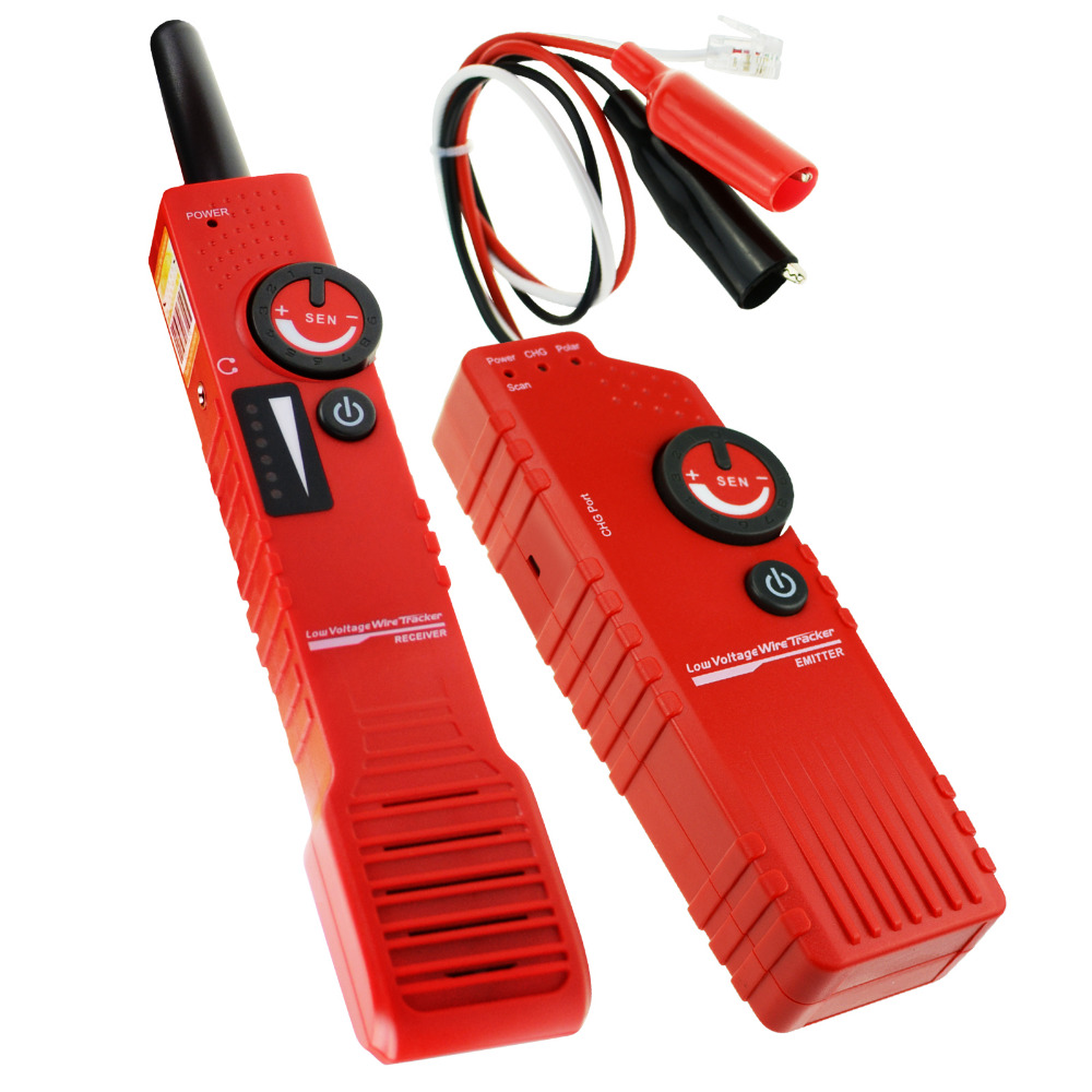 Anti-jamming, Wire Locator & Rechargeable Battery Underground Cable Tracker Detector Tester Telephone RJ11 Wire, Coax BNC Cable цена