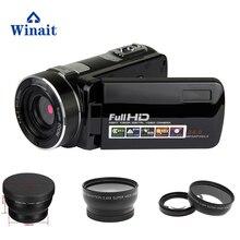 2017 Mais Novo profissional câmera de vídeo de visão noturna infravermelha câmera 24mp 1080 P foto HDV-F2 hdv camcorder com lente grande angular