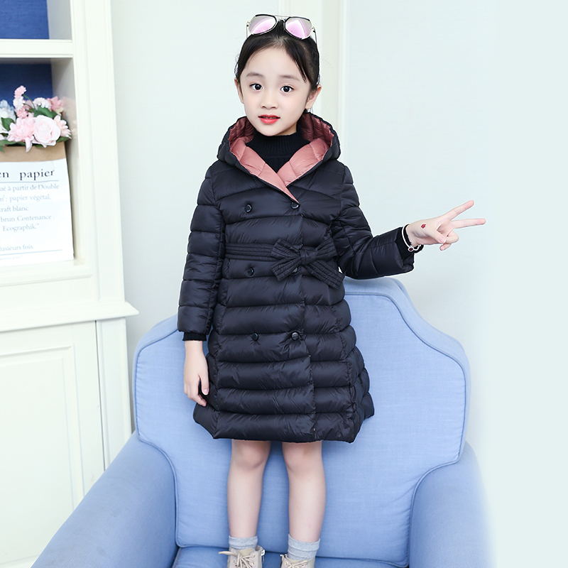 Winter Children Jackets For Girls Coat Winter Warm Down Jacket Girls Clothing Cotton Hooded Kids Outerwear 4 6 8 10 12 13 Years-in Jackets & Coats from Mother & Kids    2