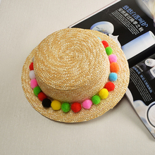Summer womens sun hat sunscreen UV visor hand-woven Creative straw hair men and women 2019 Outdoor vacation basin cap