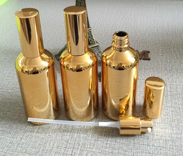 100ml gouden hoogwaardige glas bodylotion fles groothandel, 100 ml - Huidverzorgingstools - Foto 3