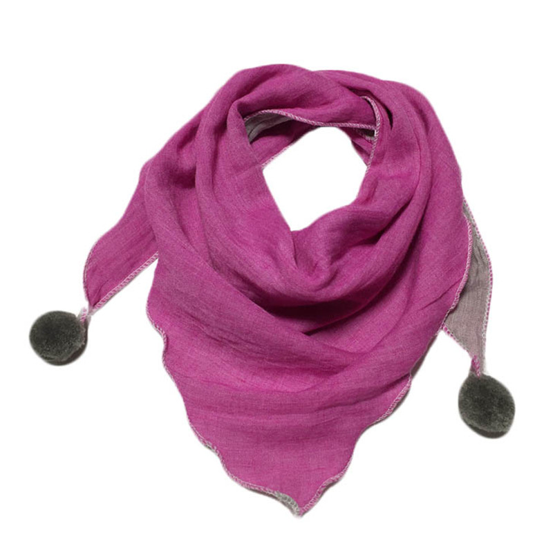 Children Triangle Scarves Autumn Winter Baby Cotton Linen Scarf Boys Girls Pure Color Magic Neckerchief Kids Fashion Neck Scarf