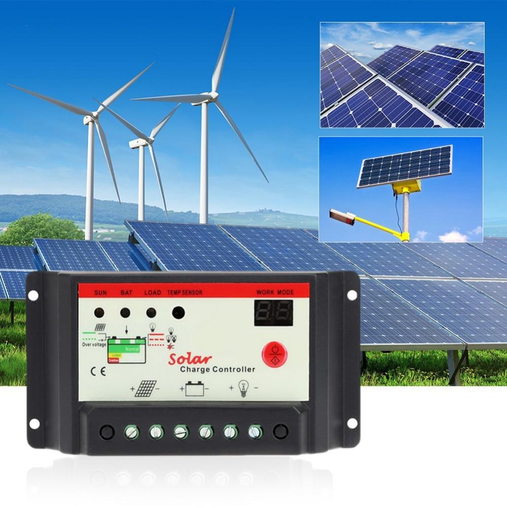 Solladdare LCD Tensione 10A 20A 30A 12 V / 24 V PWM Regolatore Solare - Reservdelar och tillbehör för mobiltelefoner - Foto 4
