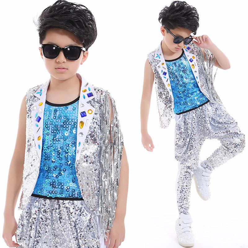 3e2092f87 ... hip hop dance costume kids boys jazz costumes s street dance clothing  childrens day stage wear ...