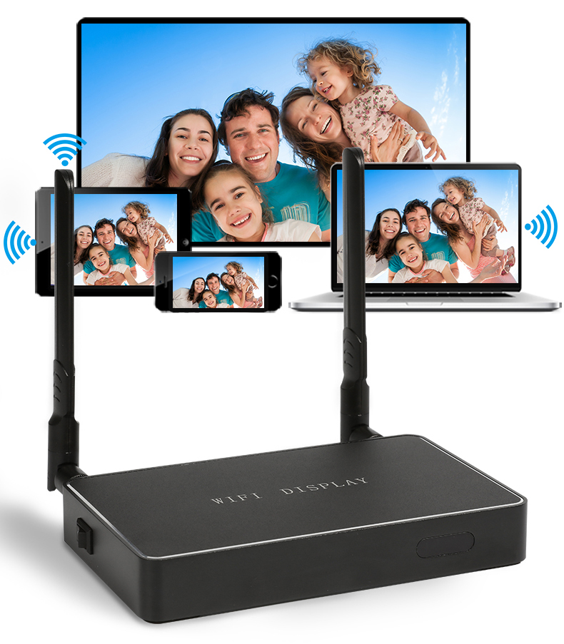 5G/2.4G WiFi Display Receiver Linux System DLNA Airplay Mirroring Miracast Airsharing 1080P HDMI Player for HDTV Smart Phones