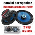 Good quality 2 way 2X120W 6.5 inch car coaxial speaker car stereo speaker car audio speaker for all cars hot sale