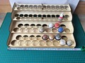 Acrylicos vallejo and citadel paint storage rack 80 paints