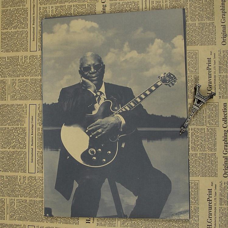 B.B.King Bruce, the king of rock guitar master Blues poster virtuoso music charts
