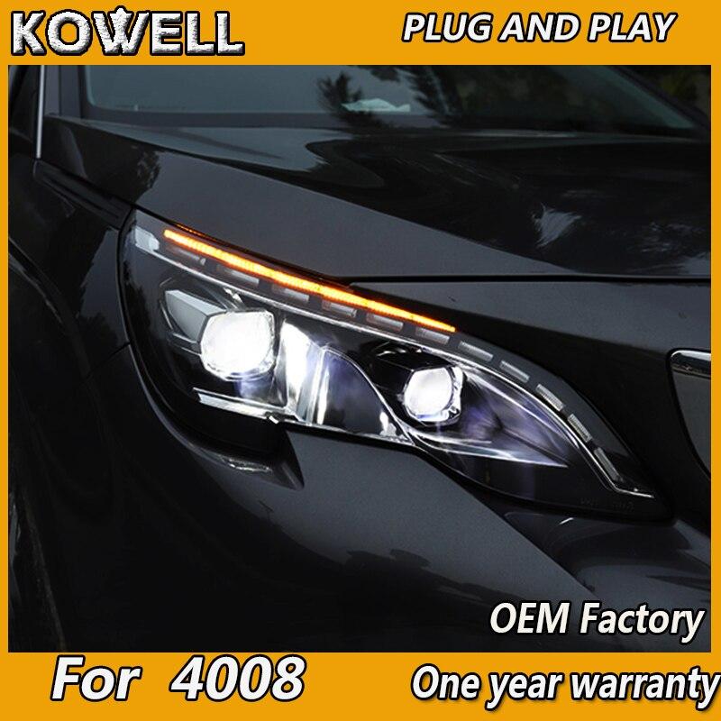 Car headlight for Peugeot 4008 5008 2017 2018 Headlights LED Angel eyes Signal light DRL Daytime light Bi Xenon lens