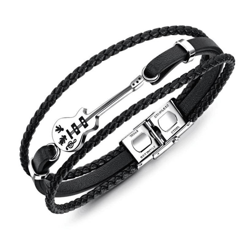 Guitar Bracelet Black...