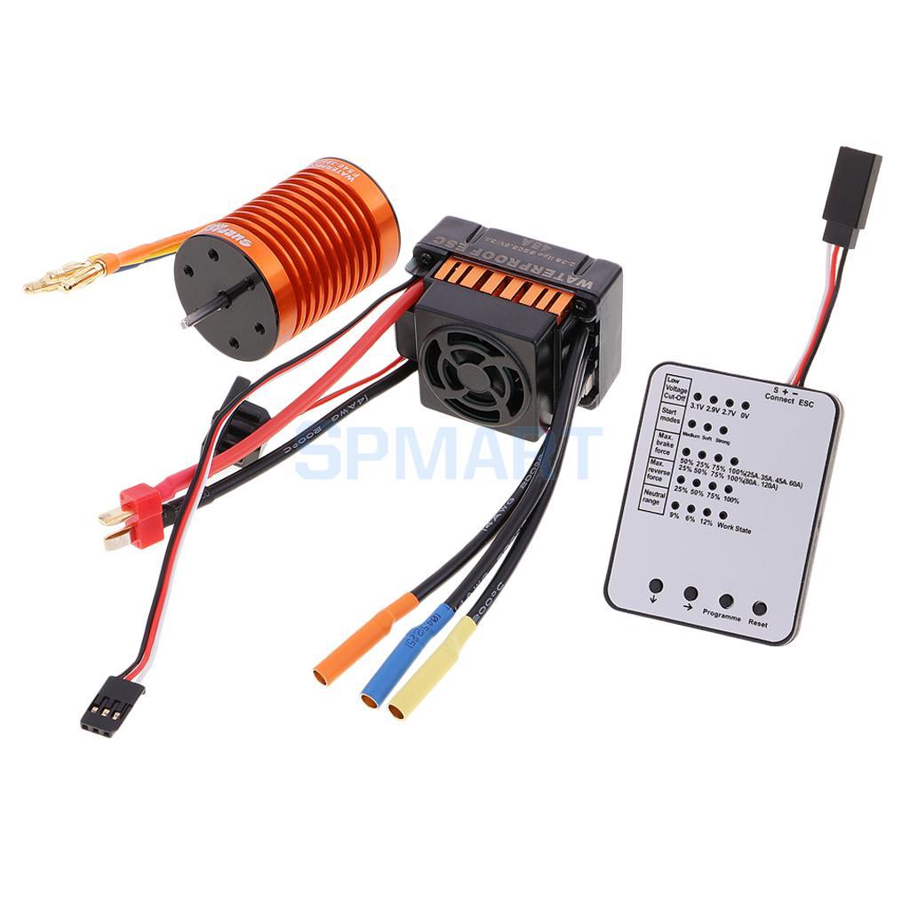 F540 3930KV Brushless Motor+45A ESC+ LED Program Card for 1/10 1/12 RC Car f540 3930kv brushless motor 45a esc led program card for 1 10 1 12 rc car