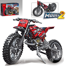 New DECOOL Classic Technic City Moto Cross Bike fit technic city car Building Blocks Bricks Model Kids Toys boys Gift
