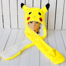 Anime Cartoon Trainer Pokemon Cute Pikachu Plush Scarves Kids Cartoon Scarves
