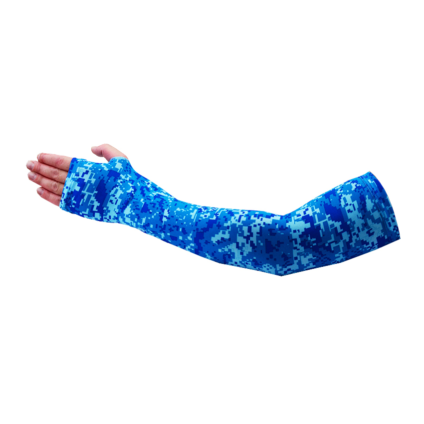 Arm Sleeves Blue and Red Fire Mens Sun UV Protection Sleeves Arm Warmers Cool Long Set Covers