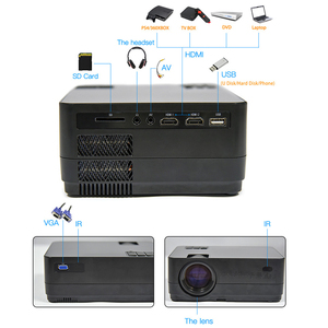 Image 4 - Mais novo hq3 projetor wi fi vídeo projecteur everycom hq2 3000 lumi hd 1280*720p led cinema em casa beamer proyector portatil,Este é um código de desconto 50 menos 7: DISC7