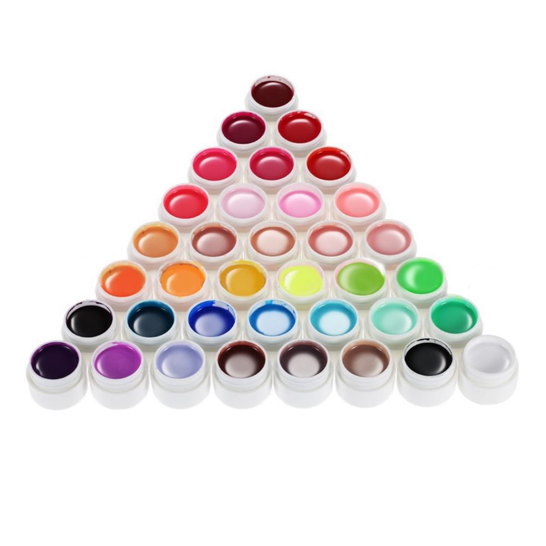 New Sale 36 Colors Nail Gel 8ml Nail Art Glitter UV Lamp Nail Polish Gel Acrylic