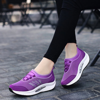 Summer Women's Shoes Breathable Mesh Comfortable Casual Ladies Shoes Outdoor Sport Woman Sneakers Thick Bottom Wear Slip Shoes