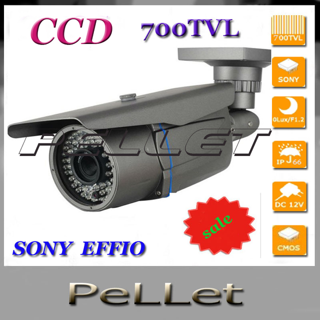 High quality Sony effio 700TVL 2.8-12mm zoom lens IR CCTV outdoor waterproof security surveillance bullet camera install system
