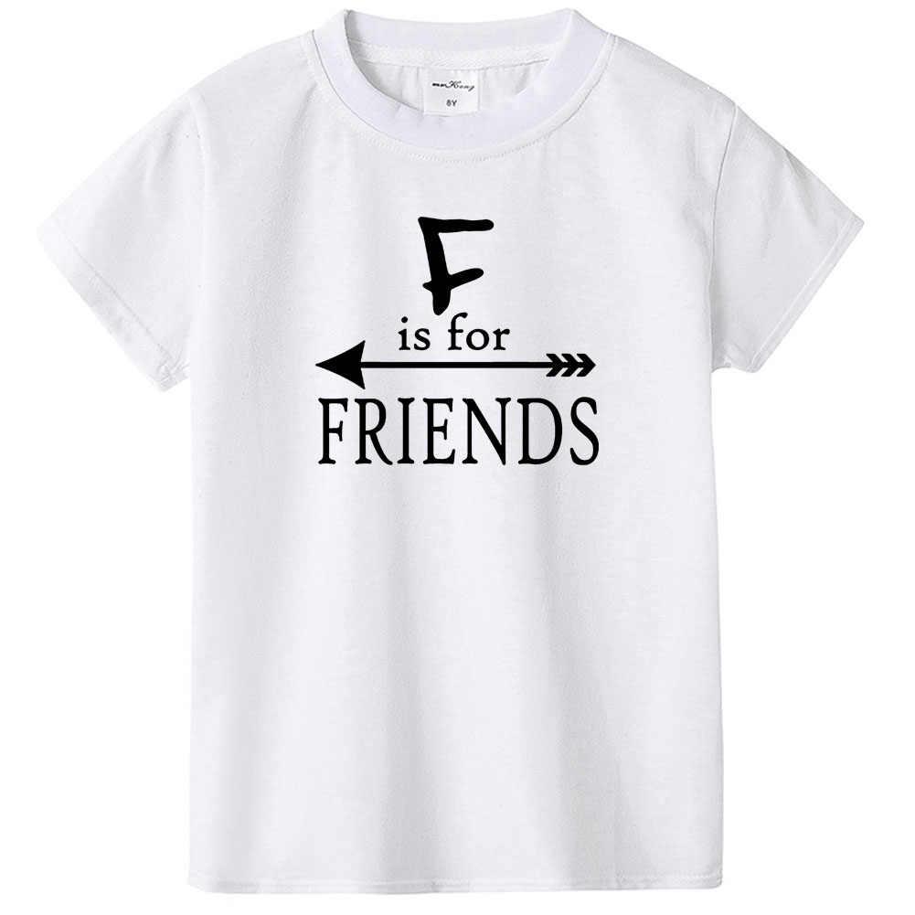 B é para o melhor e f é para o amigo melhor amigo correspondência topos t recém-nascido crianças camiseta do bebê macacão roupa