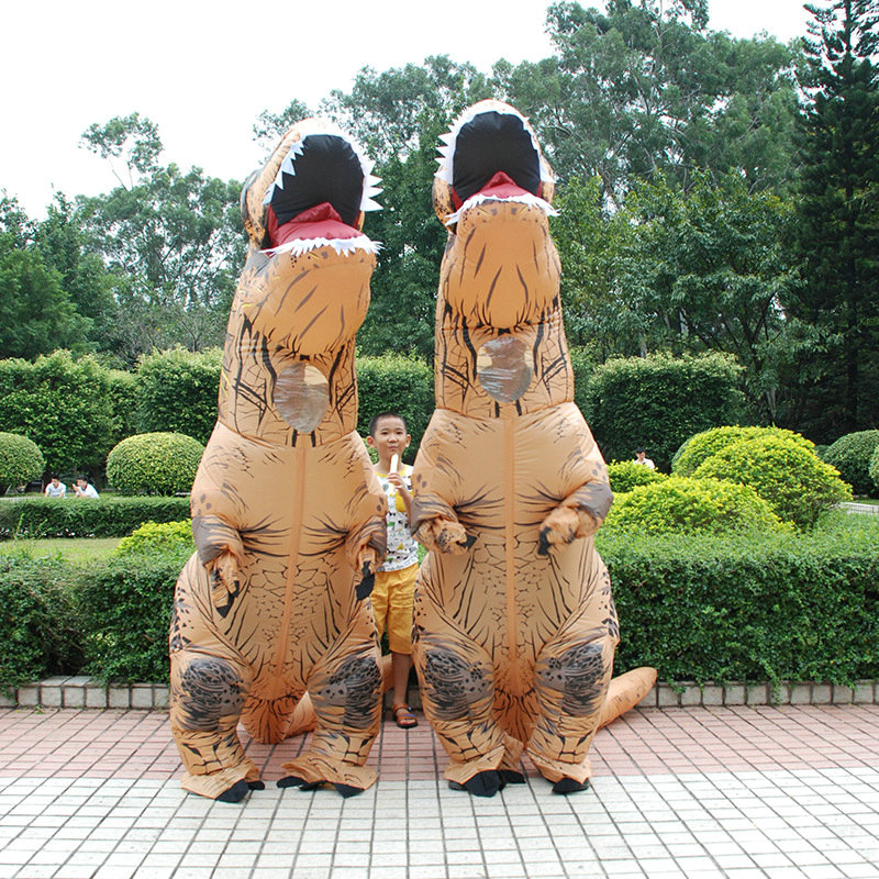 Adult Anime Cosplay T-REX Inflatable Costume Christmas Cosplay Dress Dinosaur Animal Jumpsuit Clubs Halloween Costume for Women