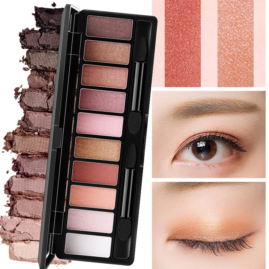 Professional 10 Colors Makeup Eye Shadow Eyeshadow Palette Shimmer Matte Eye Shadow Cosmetics Beauty New Eye Shadow