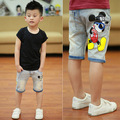 clear new 2015 baby boy cartoon mouse summer middle pant boys jeans children jeans kids summer pant