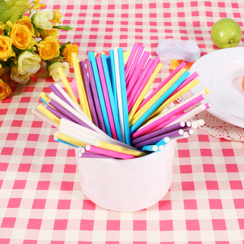 500pcs 10CM Papen Cake Sticks for Lolly Lolli Candy Chocolate Sugar Cudgel Pole Handle Colorful Pastry Tools image