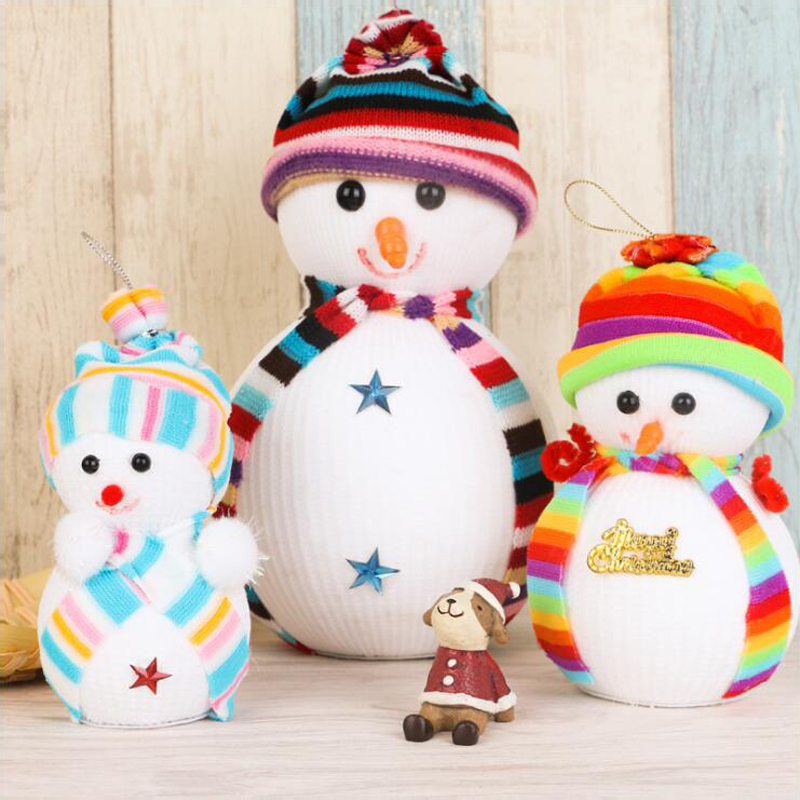 2017 New Cartoon Christmas Doll Snowman Cute Ornaments Festival Party Xmas Tree Hanging font b Decoration