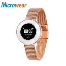 Microwear X6 Smart Band women Heart rate Pedometer IP68 Waterproof Bracelet 40Long standby Bluetooth notification