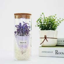 Декоративный цветок babysbreat в стеклянной обложке со световым дисплеем орнамент светодиодный свет показать искусственный цветок подарок микро пейзаж