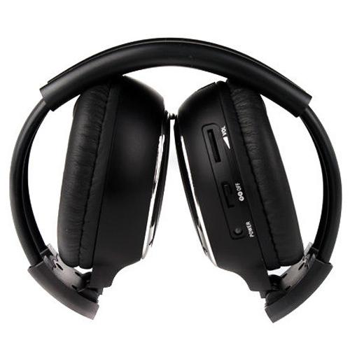 MAHA Caliente 1 x Doble auricular Estéreo de Auriculares Inalámbricos Infrarrojos IR Coches Reproductor de DVD Reposacabezas Negro
