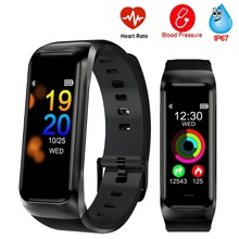 цена B02 Smart Wristband Waterproof Fitness Tracker Smart Band Blood Pressure Monitor Heart Rate Woman Smart Bracelet