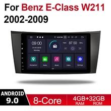 Android Car Multimedia player 2 Din WIFI GPS Navigation Autoradio For Mercedes Benz E Class W211 2002~2009 NTG touch screen WIFI liislee for mercedes benz e class mb w211 2002 2009 car multimedia tv dvd gps radio carplay original style navigation navi
