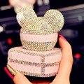 Beautiful girl Carro Perfume com diamante estilo do carro da saída de ar perfume Ambientador sólida