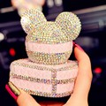 beautiful girl Car Perfume with diamond car styling Air Freshener solid air outlet perfume