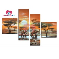Diamond Embroidery Full Square Rhinestones Landscape Africa Steppe Painting Triptych Modular Pictures Diamond Mosaic Home Decor