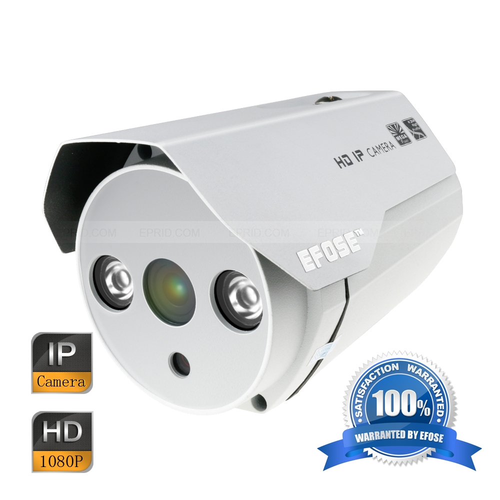 EFOSE FO-3IB211-P 2MP Full HD Network Mini IR 3.6mm Bullet POE Camera 1/3 CMOS Outdoor HD 1080P Array IR