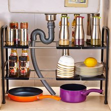 Кухня из нержавеющей стали для хранения для шкафа полка блюдо держатель двойной Слои spice пространство для хранения кухня Аксессуары