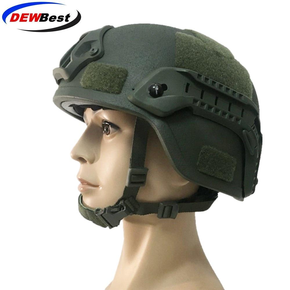DEWBest Ballistic ACH High Cut Tactical Helmet Bulletproof FAST Aramid Safety NIJ Level IIIA Military Army