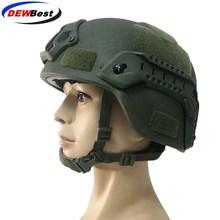 DEWBest Ballistic ACH High Cut Tactical Helmet Bulletproof FAST Aramid Safety NIJ Level IIIA Military Army A TACS