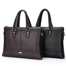 2017 Men Casual Briefcase Business Shoulder Bag Leather Messenger Bags Computer Laptop Handbag Bag Men's Travel Bags DD 3
