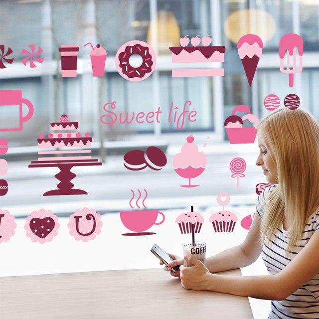 SHIJUEHEZI] PVC Material Wall Art Kitchen Sticker Donuts Cookie ...